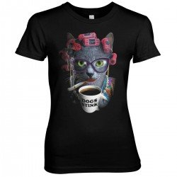 """TShirt Girl """"Cat with coffe"""""""
