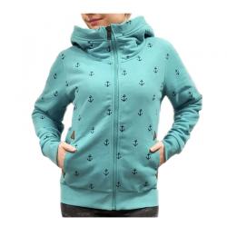 Sweat femme turquoise marin